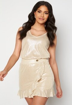 Chiara Forthi Abrienne glitter skirt Beige / Gold bubbleroom.no