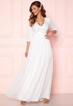 Chiara Forthi Admirante sparkling gown White Bubbleroom.no