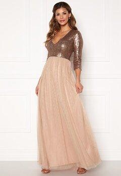 Chiara Forthi Admirante sparkling gown Rose gold Bubbleroom.no