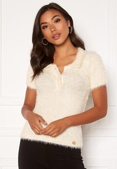 Chiara Forthi Alessandra furry top Offwhite Bubbleroom.no