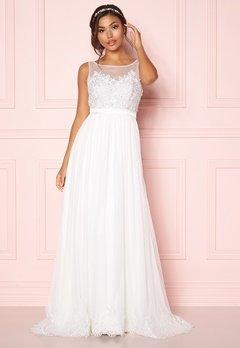 Chiara Forthi Alina Gown White Bubbleroom.no