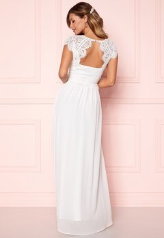 Chiara Forthi Amante Lace Gown White Bubbleroom.no