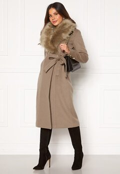 Chiara Forthi Amber Long Coat Nougat Bubbleroom.no