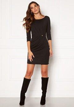 Chiara Forthi Amy 3/4 Sleeve Dress Black Bubbleroom.no