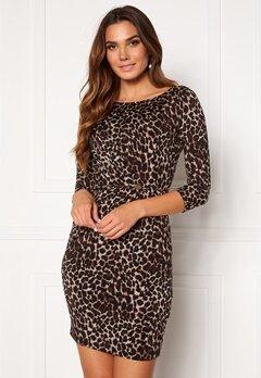 Chiara Forthi Amy 3/4 Sleeve Dress Leopard Bubbleroom.no