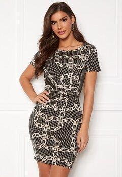 Chiara Forthi Amy Dress Black / Beige / Patterned Bubbleroom.no