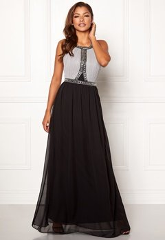 Chiara Forthi Anastasia embellished gown Black / Grey Bubbleroom.no