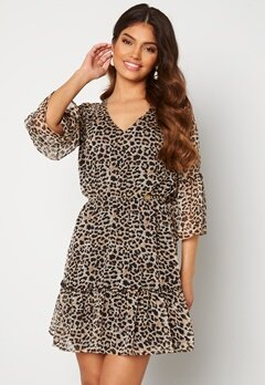 Chiara Forthi Annabelle flounce dress Leopard Bubbleroom.no