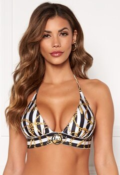 Chiara Forthi Arcola bikini bra Striped / Black / Gold Bubbleroom.no