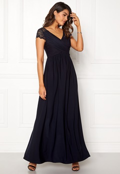 Chiara Forthi Aurelia Gown Dark blue Bubbleroom.no