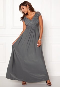 Chiara Forthi Aurelia dress Dark grey Bubbleroom.no