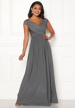 Chiara Forthi Aurelia Gown Dark grey Bubbleroom.no