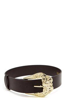 Chiara Forthi Barocco Buckle Belt Black Bubbleroom.no