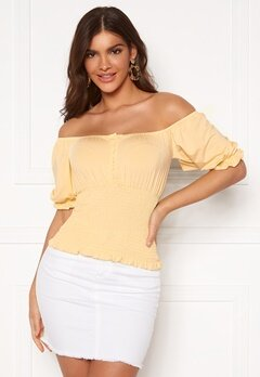 Chiara Forthi Bea smock top Light yellow Bubbleroom.no
