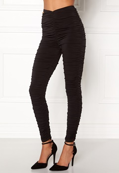 Chiara Forthi Blanca Ruched Leggings Black Bubbleroom.no