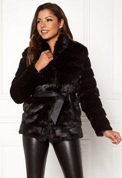 Chiara Forthi Bologna Faux Fur Jacket Black Bubbleroom.no