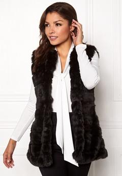Chiara Forthi Bologna Faux Fur Waistcoat Black Bubbleroom.no