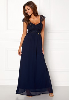 Chiara Forthi Brianna Gown Dark blue Bubbleroom.no