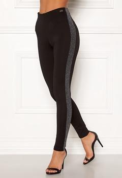 Chiara Forthi Brillante sparkling stripe pants Black / Silver Bubbleroom.no