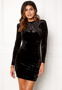 Chiara Forthi Brushed Velvet Dress Black Bubbleroom.no