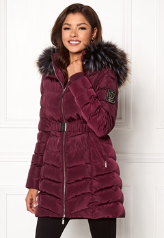 Chiara Forthi Campitello Padded Jacket Dark wine-red Bubbleroom.no
