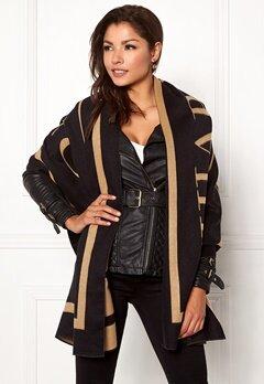 Chiara Forthi Cecena shawl Black / Camel Bubbleroom.no