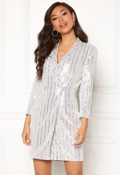 Chiara Forthi Celebrity sequin blazer dress Silver Bubbleroom.no
