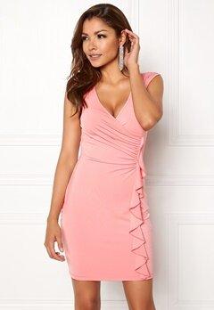 Chiara Forthi Celina ruffle dress Pink Bubbleroom.no