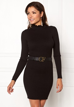 Chiara Forthi Cecile knitted dress Black Bubbleroom.no