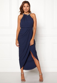 Chiara Forthi Cernobio long dress Navy Bubbleroom.no