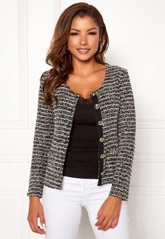 Chiara Forthi Charlize jersey jacket Black / Offwhite Bubbleroom.no
