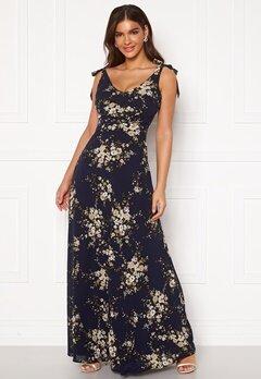 Chiara Forthi Cherie tie dress Dark blue / Floral Bubbleroom.no