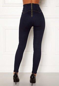 Chiara Forthi Chiara corset waist jeans Dark blue Bubbleroom.no
