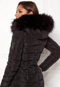 Chiara Forthi Chiara Faux Fur Collar Black Bubbleroom.no