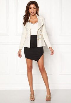 Chiara Forthi Chiara Heavy Knit Blazer Antique white Bubbleroom.no