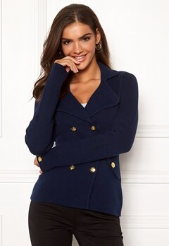 Chiara Forthi Chiara Heavy Knit Blazer Dark blue Bubbleroom.no