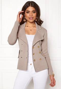 Chiara Forthi Chiara Heavy Knit Blazer Grey-beige Bubbleroom.no