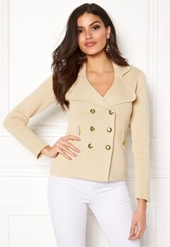 Chiara Forthi Chiara Heavy Knit Blazer Light beige Bubbleroom.no