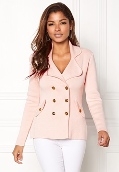 Chiara Forthi Chiara Heavy Knit Blazer Light pink Bubbleroom.no