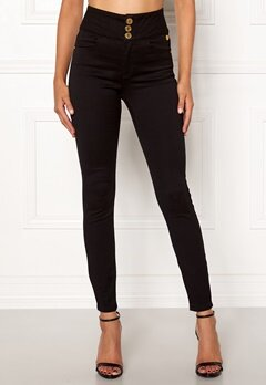 Chiara Forthi Chiara high waist jeans Black Bubbleroom.no