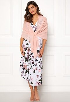 Chiara Forthi Chiffon Shawl Light pink Bubbleroom.no