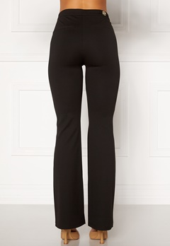 Chiara Forthi Christel slited pants Black Bubbleroom.no