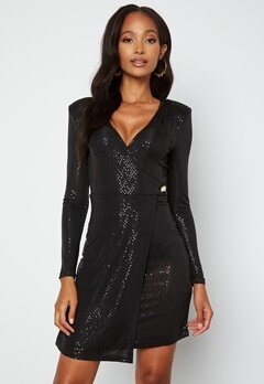 Chiara Forthi Ciana Glitter Dress Black bubbleroom.no
