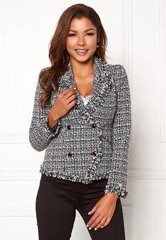 Chiara Forthi Cici bouclé jacket Black / Offwhite Bubbleroom.no