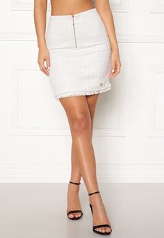 Chiara Forthi Cici bouclé skirt Winter white Bubbleroom.no