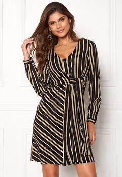 Chiara Forthi Connie shirt dress Black / Yellow / Striped Bubbleroom.no