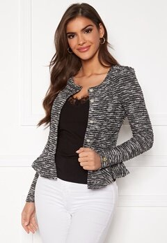 Chiara Forthi Crystalina peplum jacket Black Bubbleroom.no