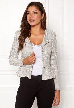 Chiara Forthi Crystalina peplum jacket Offwhite Bubbleroom.no