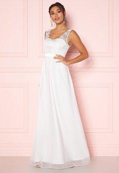 Chiara Forthi Daisy satin gown White Bubbleroom.no