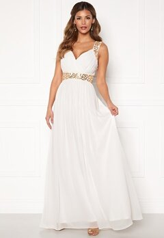Chiara Forthi Diana Gown White / Gold Bubbleroom.no